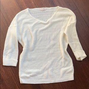 Light weight cream sweater
